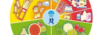 Elabora menús saludables con la rueda de los alimentos