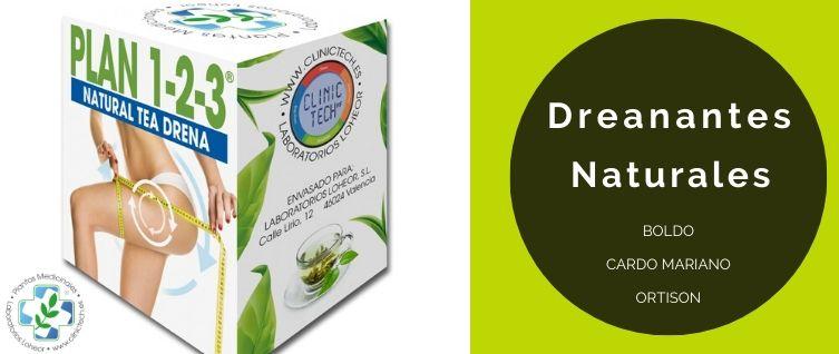 Dieta Drenate con plantas medicinales para mejora la silueta y limpieza del hígado con BOLDO + CARDO MARIANO +ORTISON