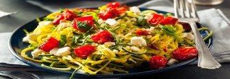 Espaguetis de calabacín y a Perder kilos este verano