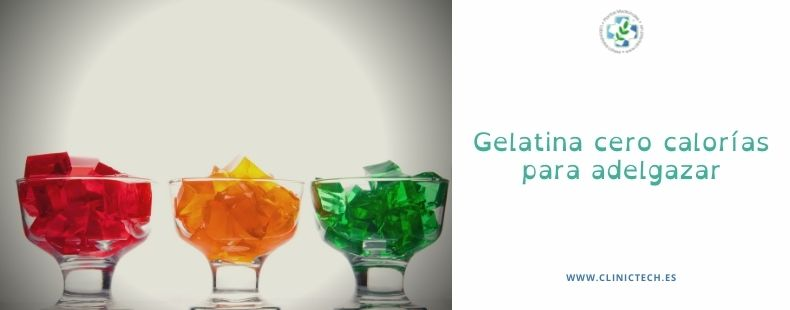 Gelatina cero calorías para adelgazar